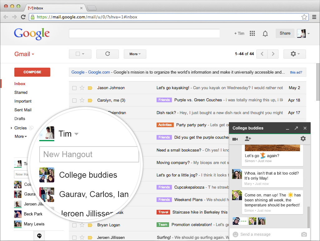 Google chat | Tools for Effective Organizational Communication